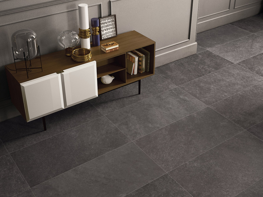Indoor porcelain stoneware wall/floor tiles CODE ANTHRACITE - CERAMICHE KEOPE