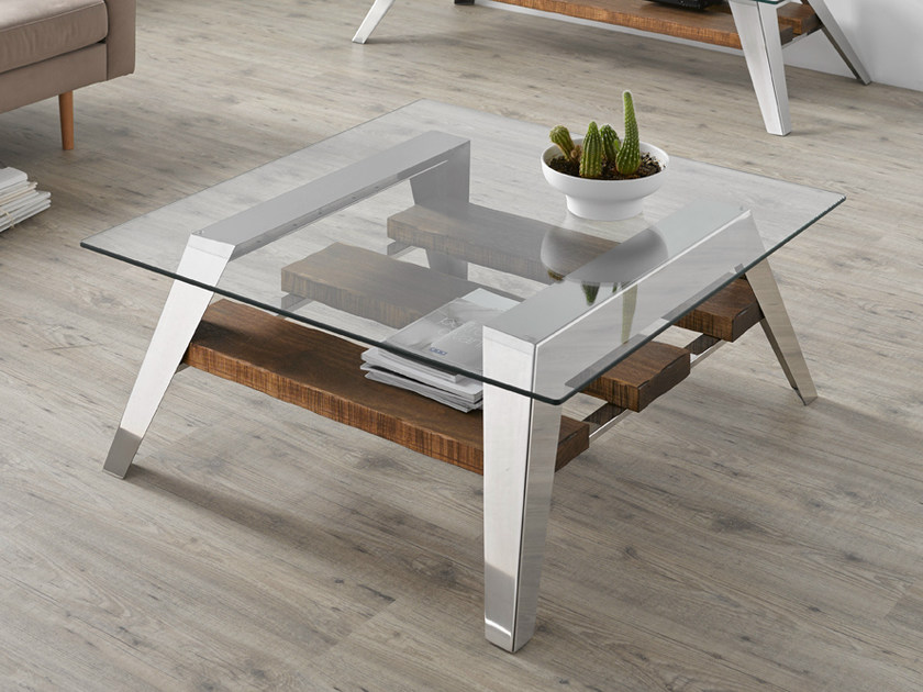 Contemporary style low glass coffee table for living room NORDIC | Coffee table - Altinox Minimal Design