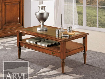 Rectangular solid wood coffee table AMALFI   Coffee table by Arvestyle