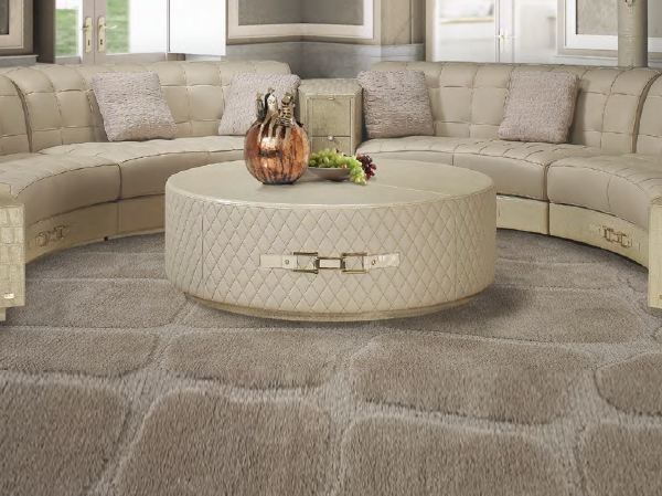 Tavolino basso rotondo in pelle da salotto MODERN SITTING MY09 | Tavolino - Formitalia Group