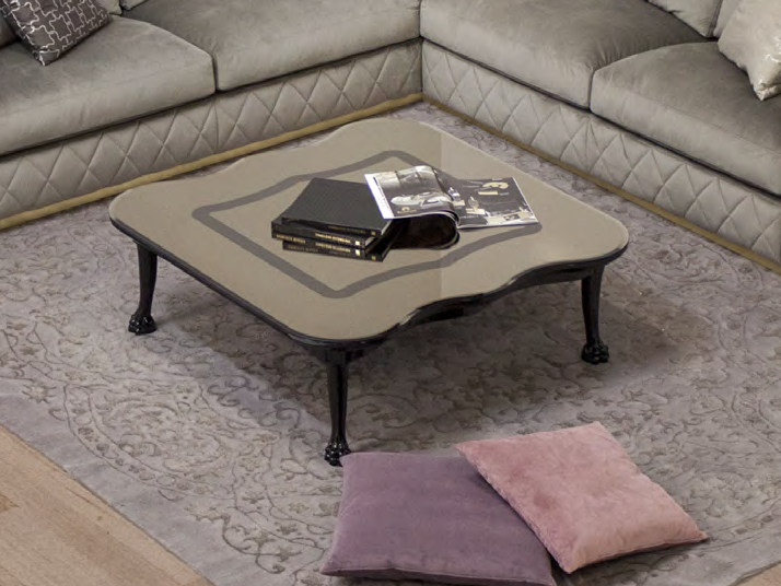 Low square wooden coffee table for living room GALEAZZO | Coffee table by Formitalia Group