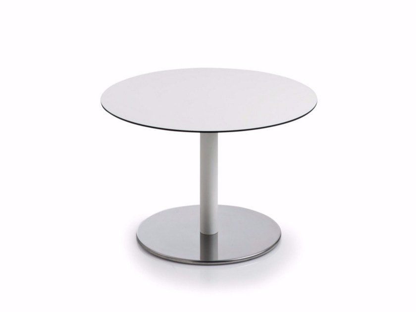 Low round MDF coffee table INTONDO | Round coffee table - Luxy