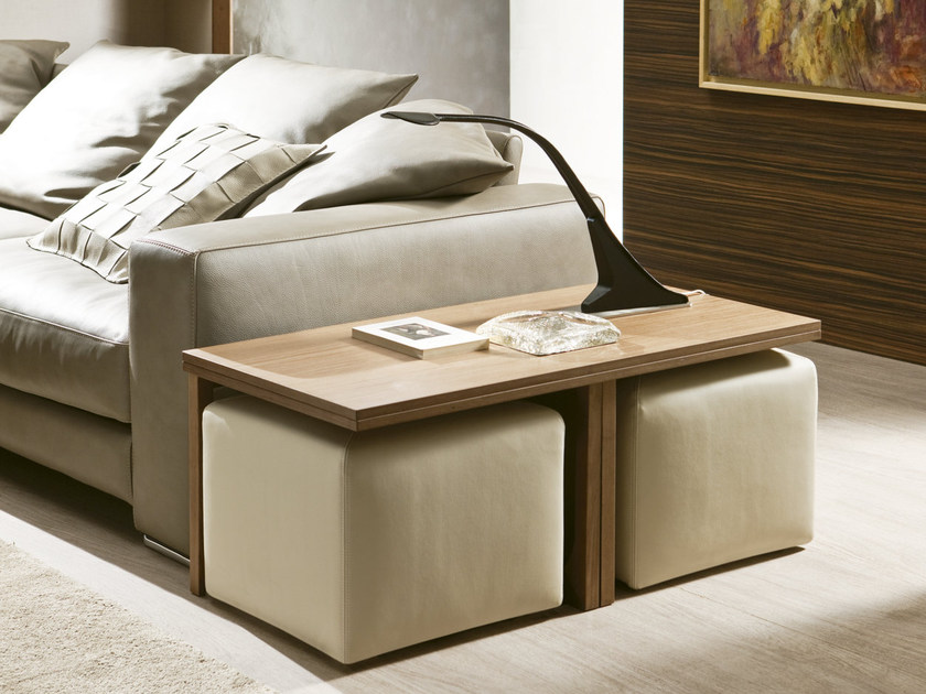 Tavolino allungabile basso PLANO | Tavolino - Pacini & Cappellini