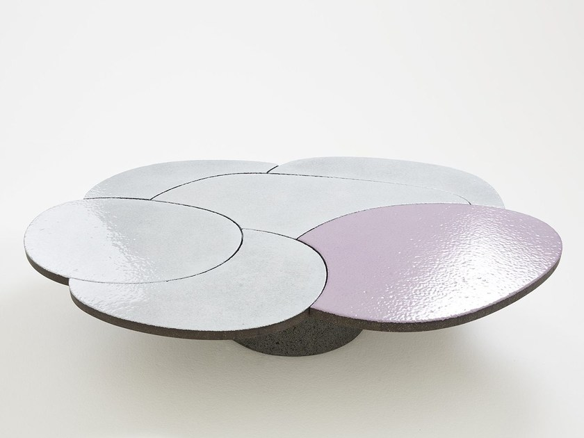 Lava stone coffee table for living room COFFEE TABLE PINK by Made a Mano