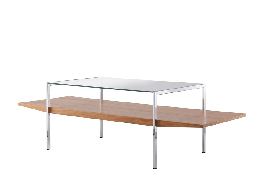 Rectangular wood and glass coffee table KOLLEKTION.58 | Coffee table by rosconi