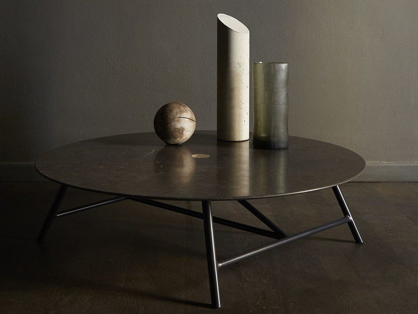 Round natural stone coffee table W | Coffee table by SALVATORI