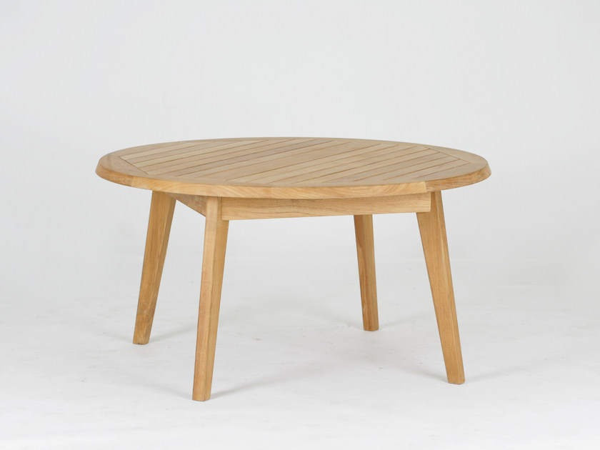 Round teak coffee table PORTSEA | Coffee table - 7OCEANS DESIGNS