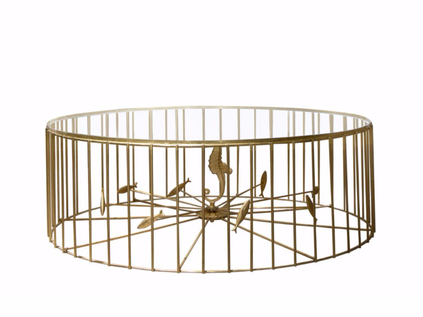 Round metal coffee table for living room GABBIA | Coffee table - SOFTHOUSE