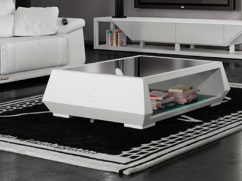 Low leather coffee table for living room BOOSTER | Coffee table by Tonino Lamborghini Casa