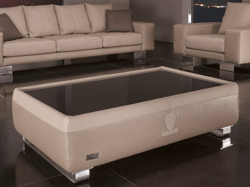 Low leather coffee table for living room SPEED | Coffee table - Tonino Lamborghini Casa
