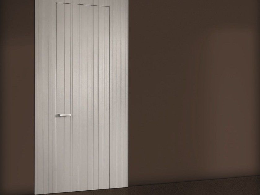 Flush-fitting lacquered wooden door COLOR EAN TB25 by BARAUSSE