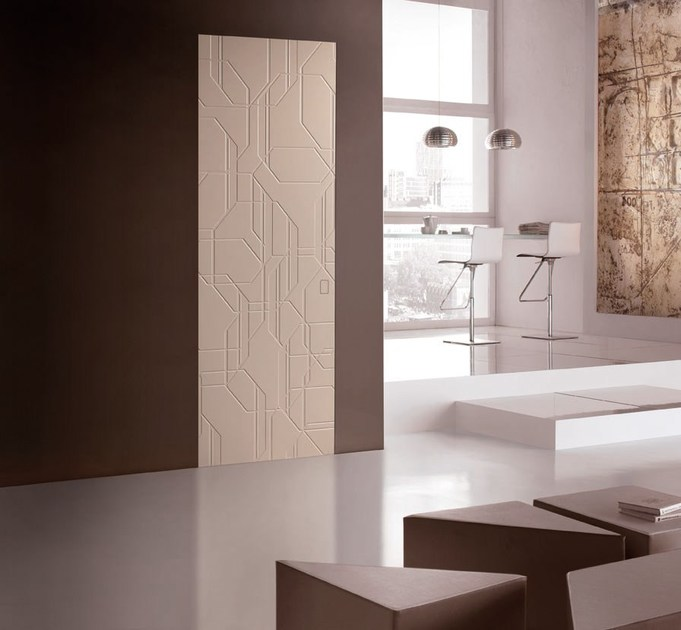 Flush-fitting wooden door COLOR OTTAGONO by BARAUSSE