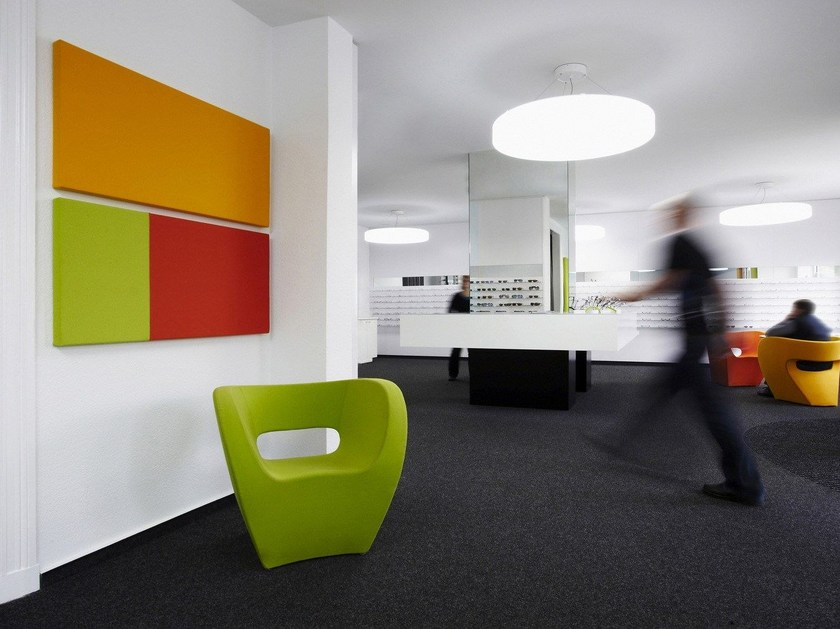 Fabric-based acoustic panels for walls COLORS FIELDS | Decorative acoustical panel by Acousticpearls
