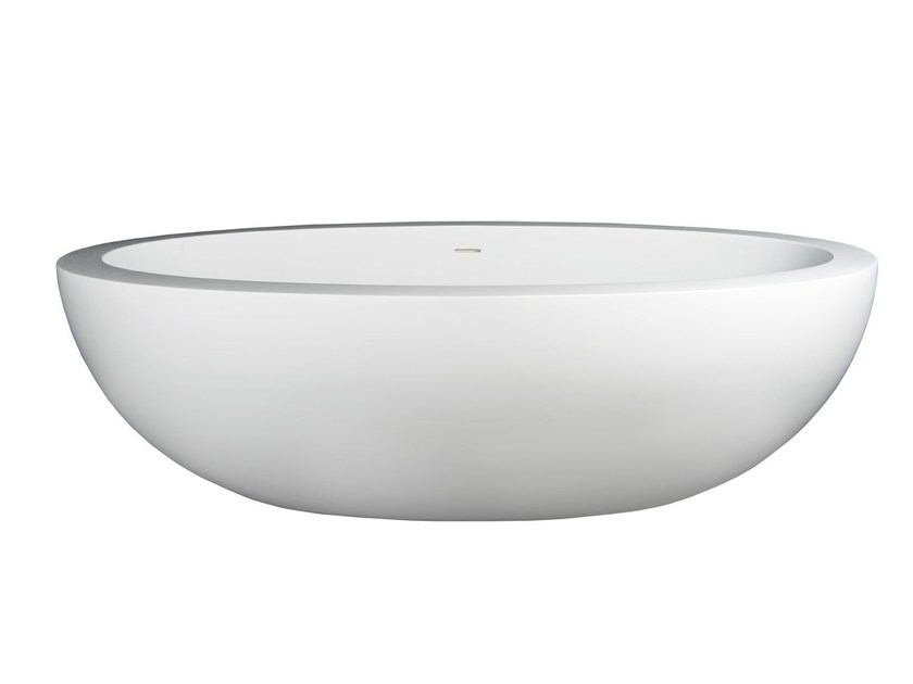 Freestanding Solid Surface® bathtub COLOSSEO by 7Baths