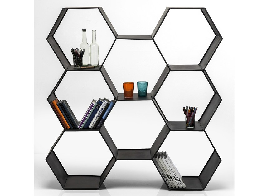 Open lacquered iron bookcase COMB - KARE-DESIGN