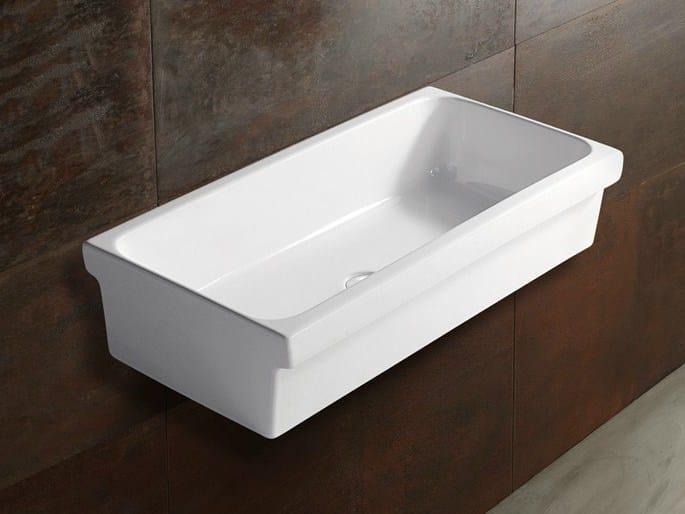 Wall-mounted ceramic Public washbasin COMMUNITY | Public washbasin - Alice Ceramica