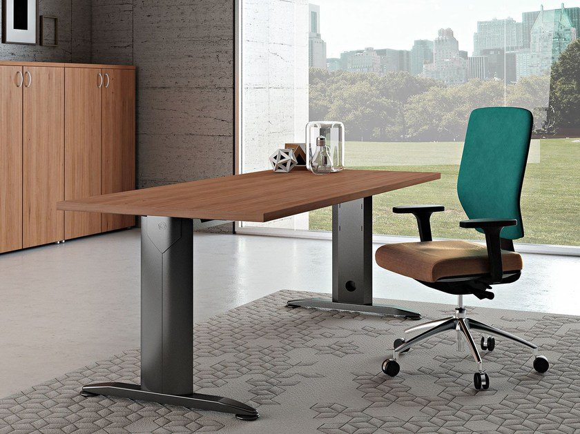 Rectangular melamine-faced chipboard workstation desk COMPACT C18Z - Arcadia Componibili - Gruppo Penta