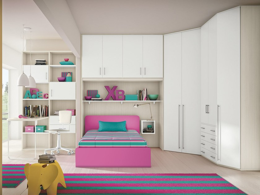 Bedroom set with bridge wardrobe COMPOSITION 14 - Mottes Mobili