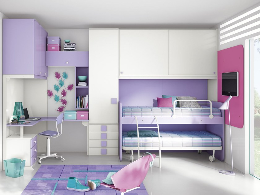 Bedroom set with bridge wardrobe COMPOSITION 20 by Mottes Mobili