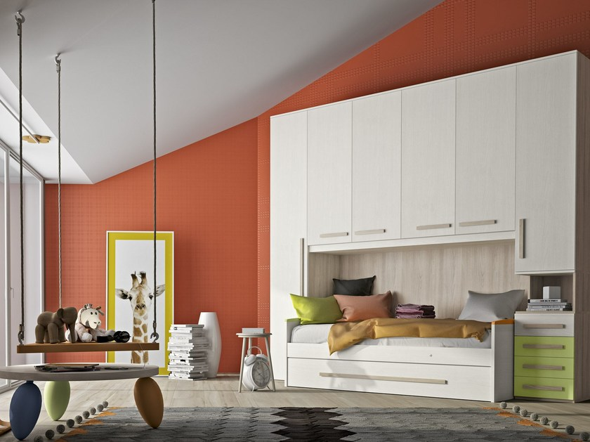 Bedroom set with bridge wardrobe COMPOSITION 10 by Mottes Mobili