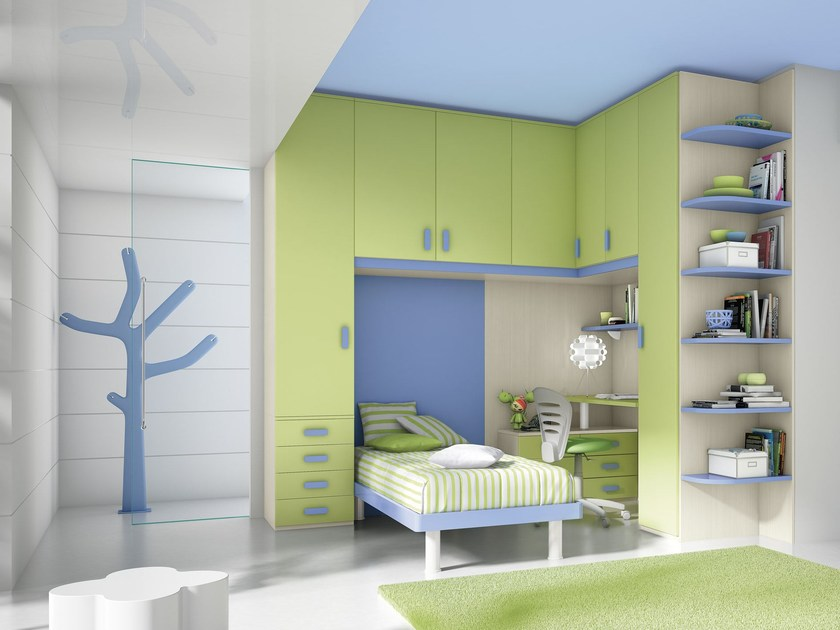 Bedroom set with bridge wardrobe COMPOSITION 17 by Mottes Mobili