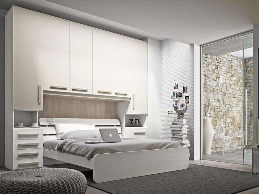 Bedroom set with bridge wardrobe COMPOSITION 21 - Mottes Mobili
