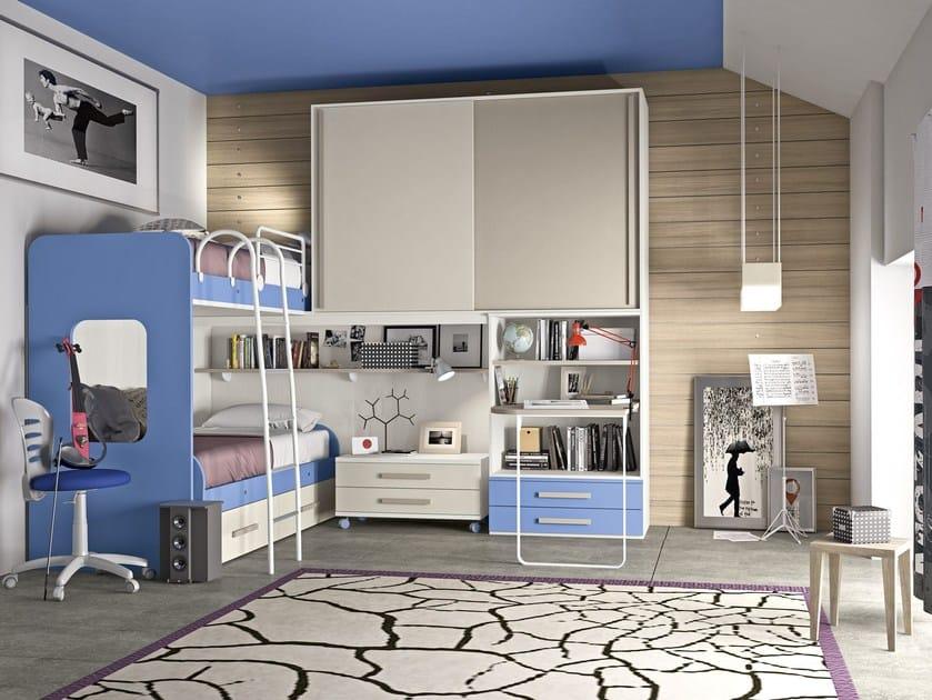 Loft bedroom set COMPOSITION 26 by Mottes Mobili