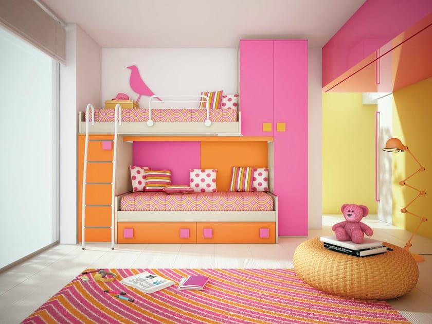 Loft bedroom set COMPOSITION 27 by Mottes Mobili