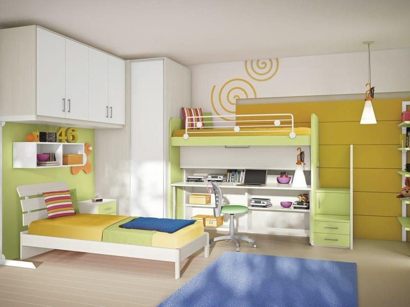 Loft bedroom set COMPOSITION 29 by Mottes Mobili