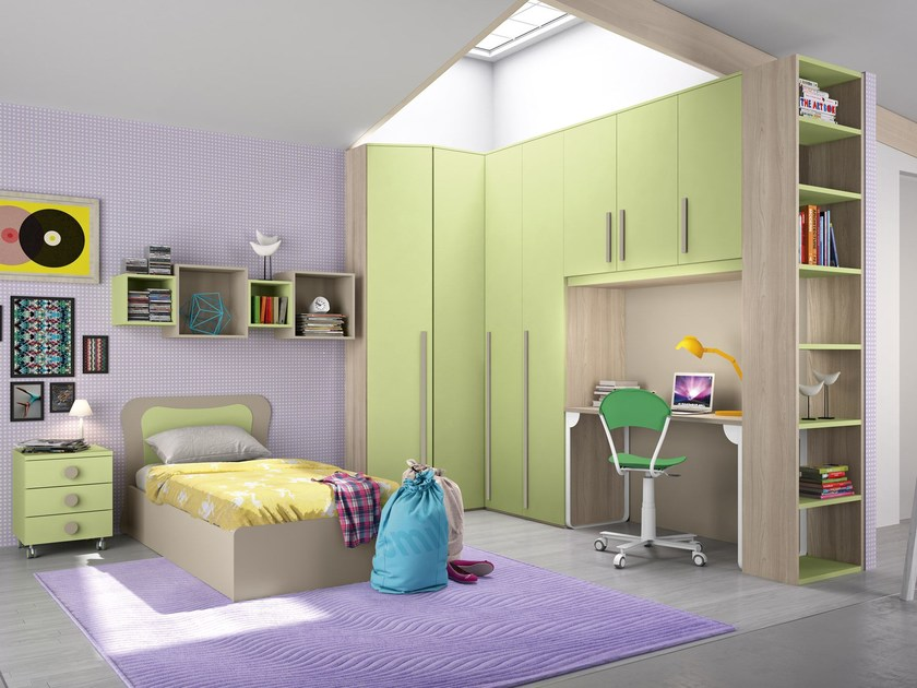 Bedroom set with bridge wardrobe COMPOSITION 8 - Mottes Mobili