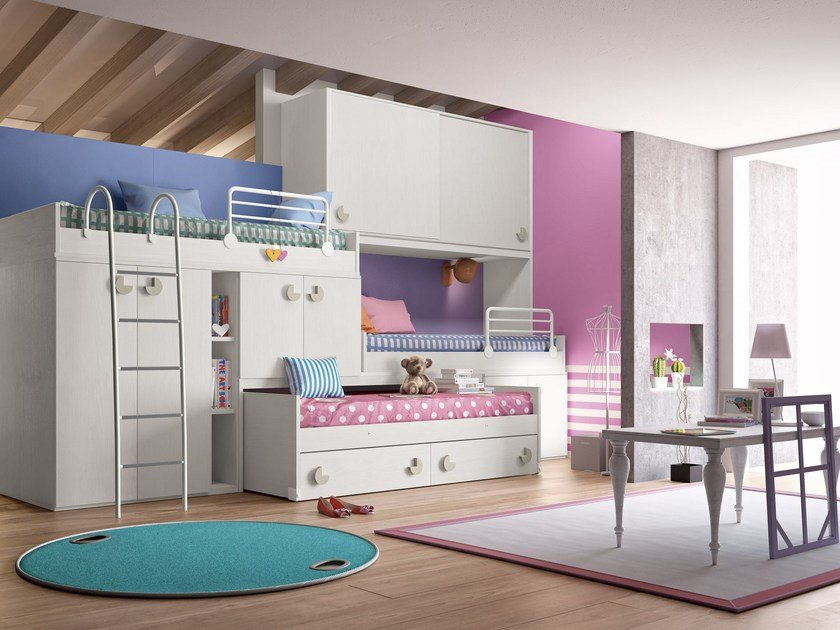 Loft bedroom set COMPOSITION 22 - Mottes Mobili