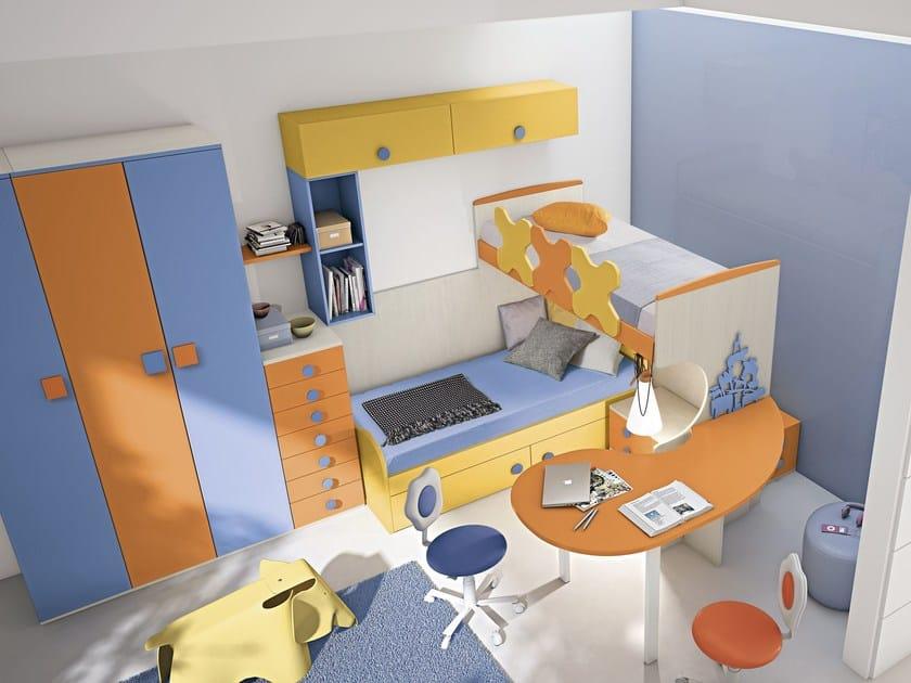 Loft bedroom set COMPOSITION 33 - Mottes Mobili