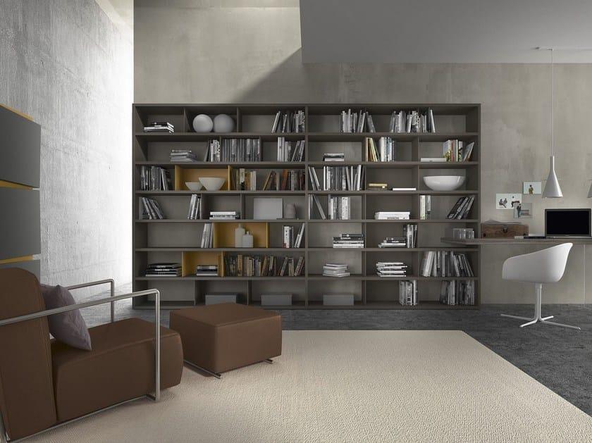 Sectional modular wooden bookcase Pari & Dispari - 351 by Presotto