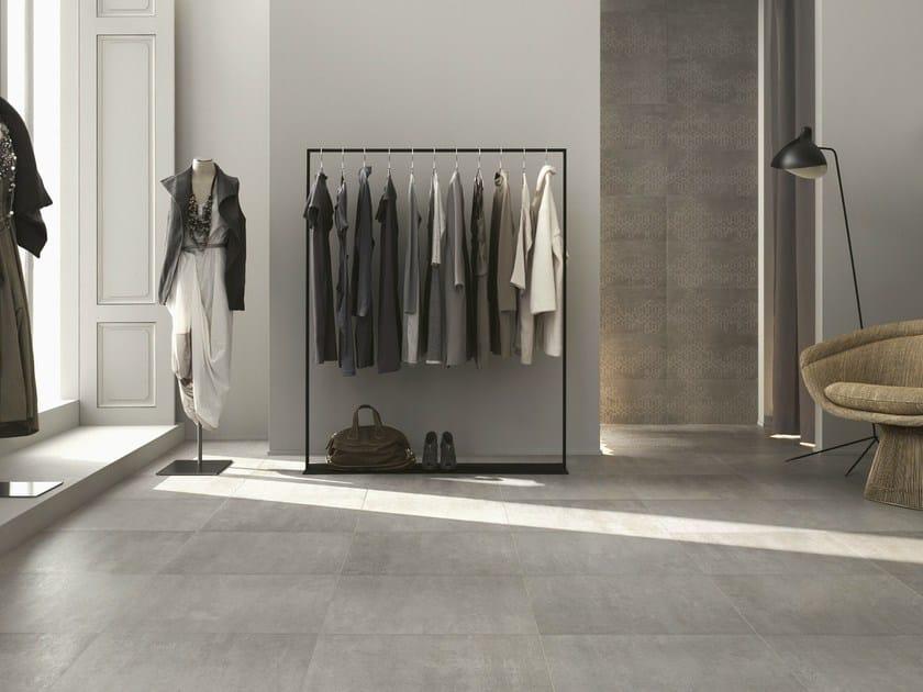 Porcelain stoneware flooring with concrete effect CONCEPT | Flooring - Ragno