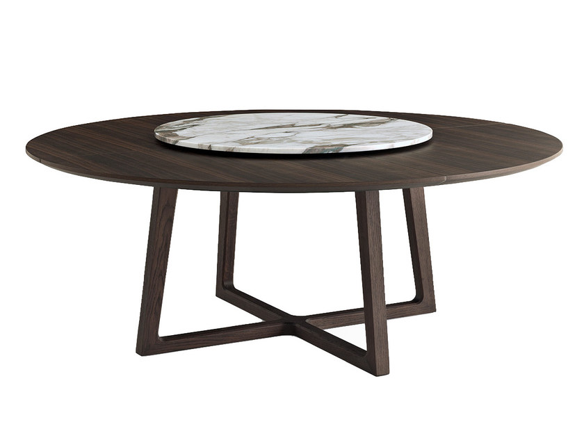Round solid wood table CONCORDE | Round table - Poliform