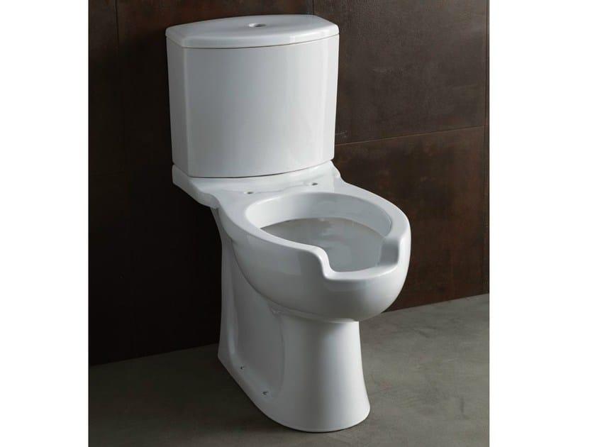 Close coupled ceramic toilet CONFORT | Close coupled toilet - Alice Ceramica