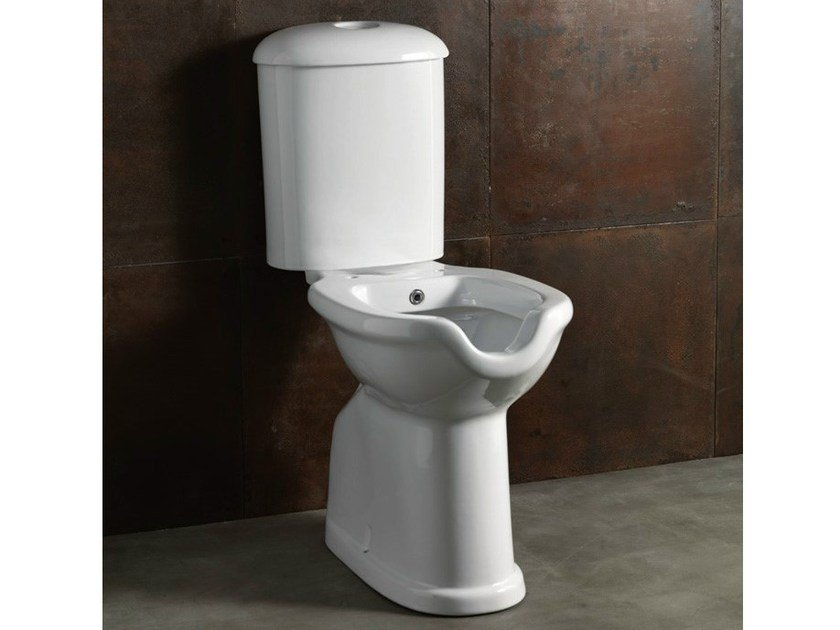 Close coupled ceramic toilet with bidet CONFORT-ECO | Toilet with bidet - Alice Ceramica