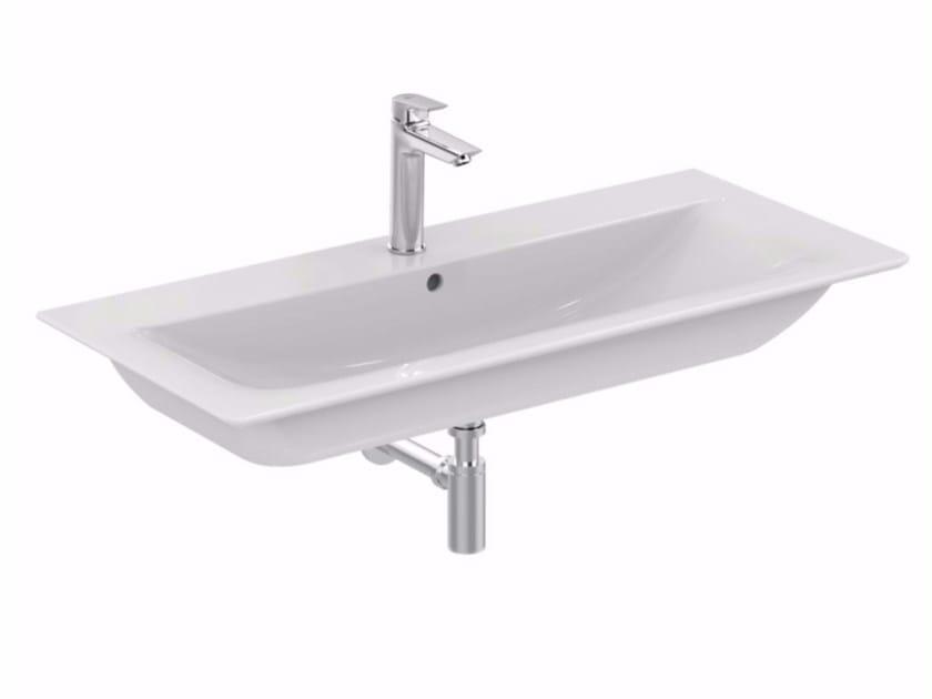 Lavabo da incasso soprapiano rettangolare in ceramica CONNECT AIR - 100 cm - Ideal Standard Italia