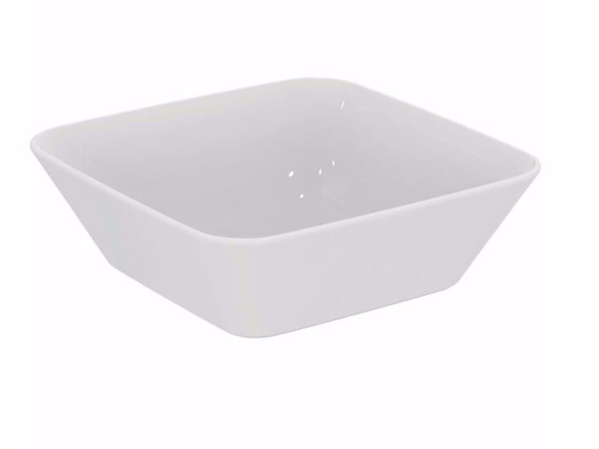 Lavabo da appoggio quadrato in ceramica CONNECT AIR 40 CM | Lavabo da appoggio - Ideal Standard Italia