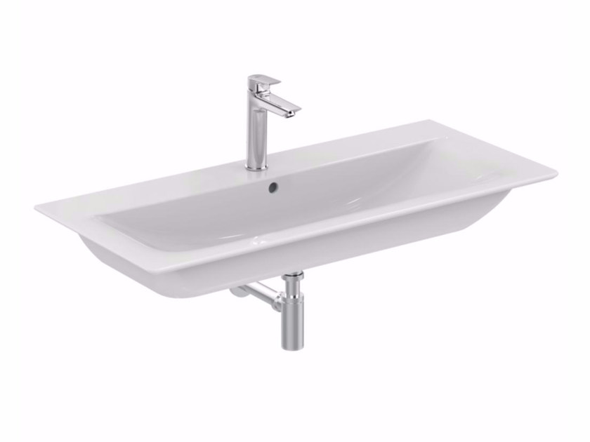 Inset rectangular ceramic washbasin CONNECT AIR - 80 cm - Ideal Standard Italia