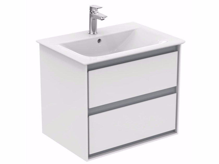 Lacquered wall-mounted vanity unit with drawers CONNECT AIR - E0818 - Ideal Standard Italia