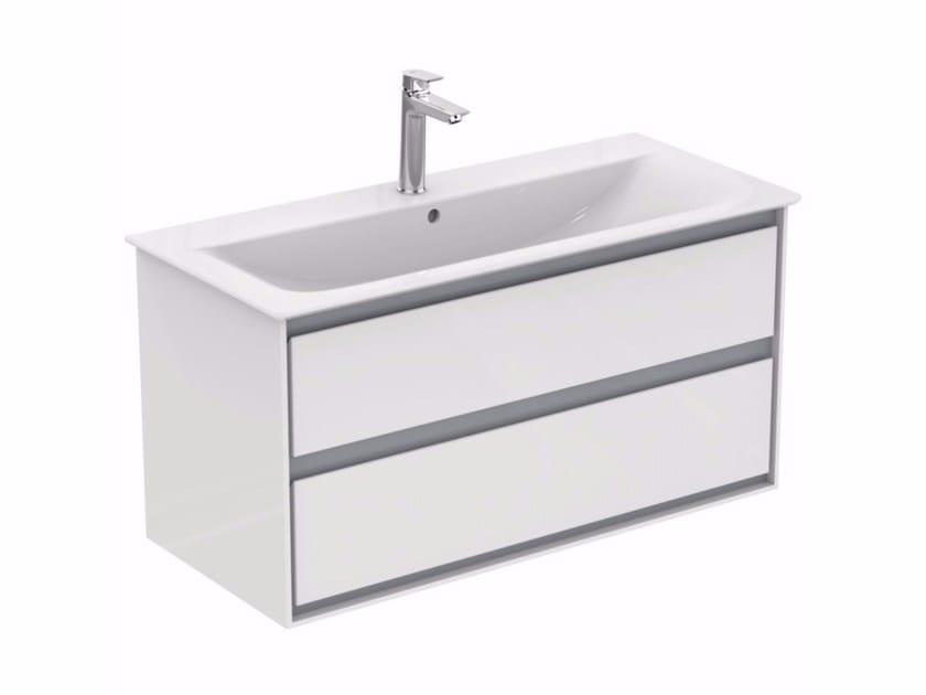 Mobile lavabo laccato sospeso con cassetti CONNECT AIR - E0821 by Ideal Standard
