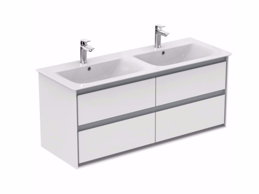 Double lacquered vanity unit with drawers CONNECT AIR - E0822 - Ideal Standard Italia