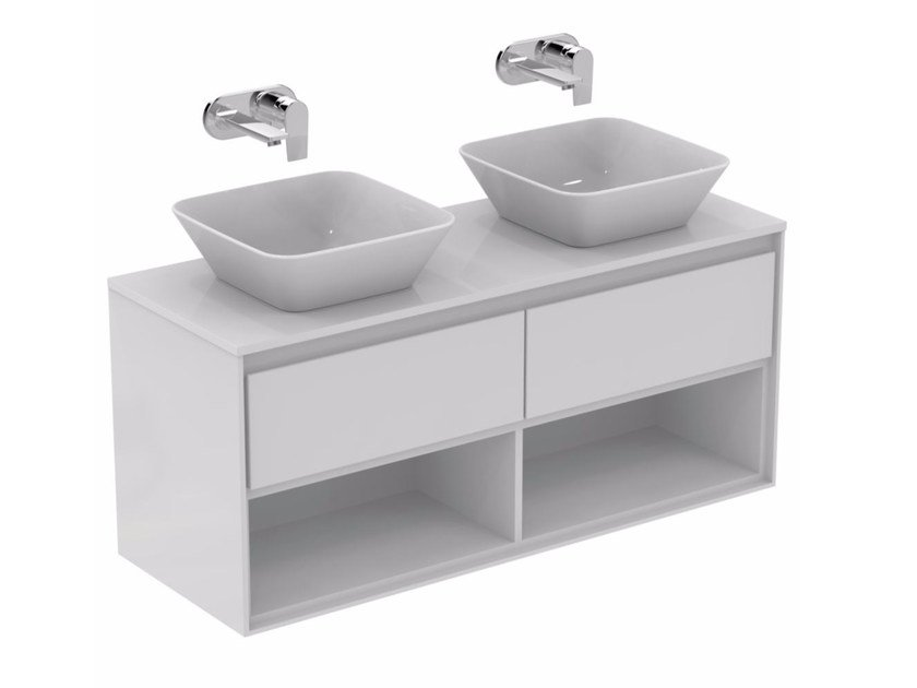 Mobile lavabo doppio laccato con cassetti CONNECT AIR-  E0829 by Ideal Standard
