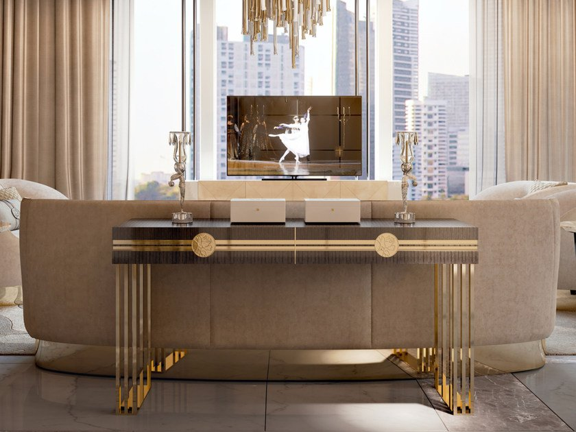 Rectangular console table SYMPHONY - INFINITY | Console table by Bizzotto