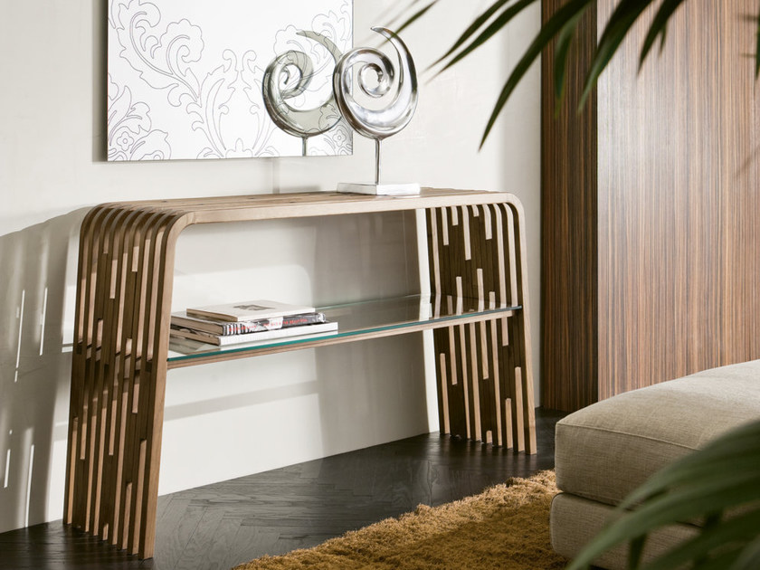 Rectangular solid wood console table MILLERIGHE | Console table - Pacini & Cappellini