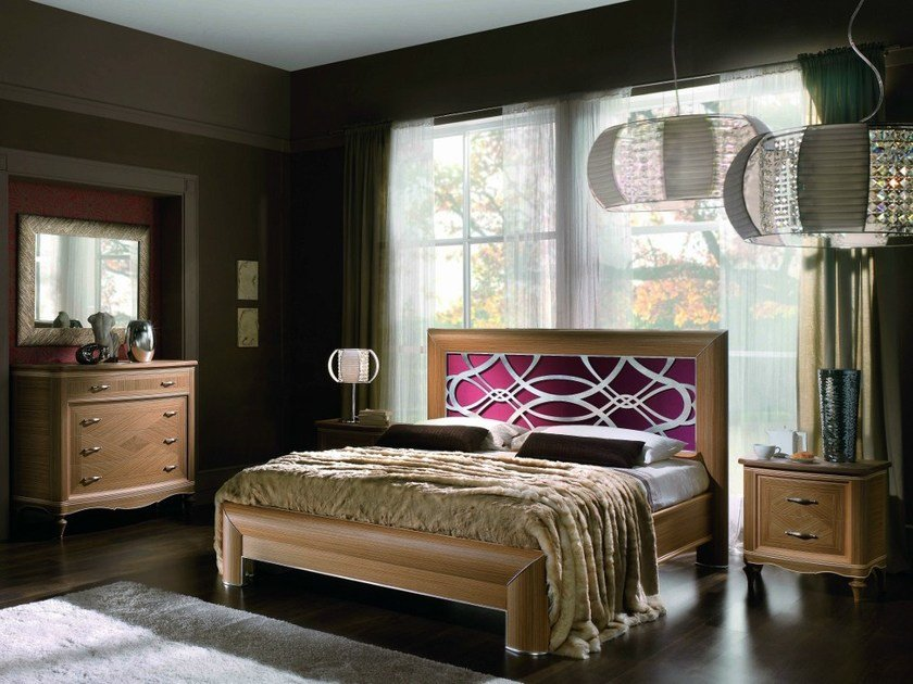 Solid wood bedroom set CONTEMPORARY | Bedroom set by Modenese Gastone