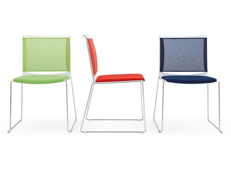 Sled base polypropylene chair S'MESH SOFT | Chair - Diemmebi