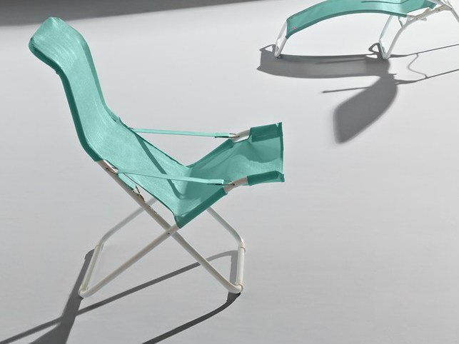 Folding metal deck chair LIDO | Folding deck chair - FIAM