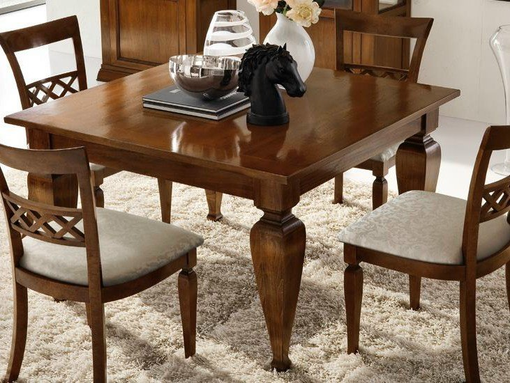 Square solid wood table CONTESSA | Table - Devina Nais